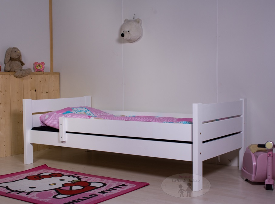 Wit Bed Meisje.Kinderbed Luther Wit Grenen 90x200 Inclusief Lattenbodem